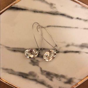 Swarovski silver puzzle earrings